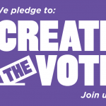 Purple graphic for Create the Vote