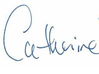 Catherine Peterson Signature